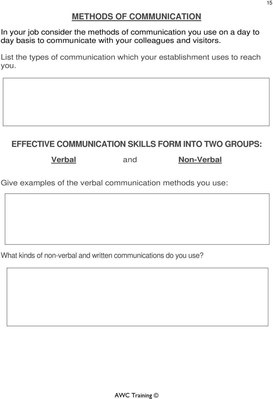 Effective Working Relationships - PDF