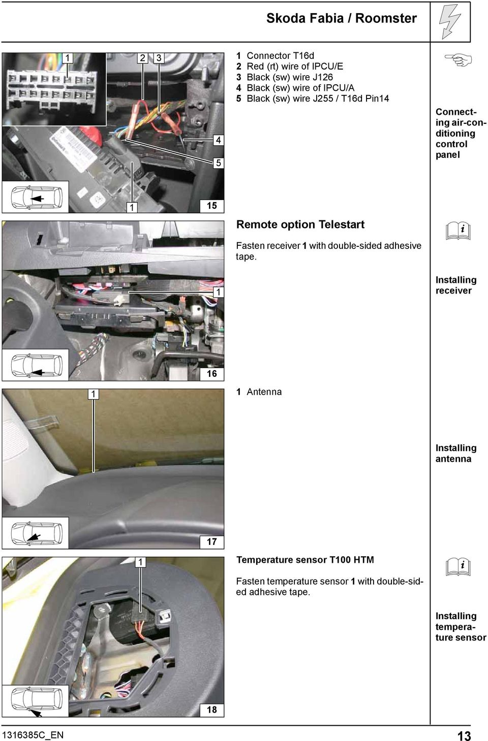 Always Follow All Webasto Installation And Repair Instructions 2004 Volkswagen Jetta Coolant Ing Fasten Receiver With Double Sided Adhesive Tape