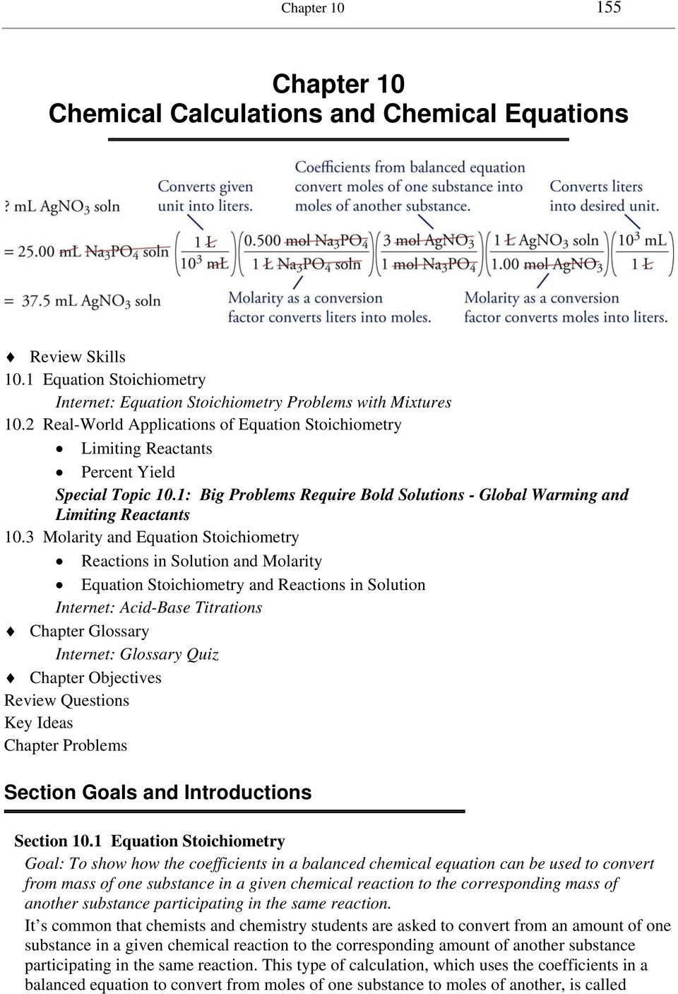 Chapter 10 Chemical Calculations and Chemical Equations - PDF