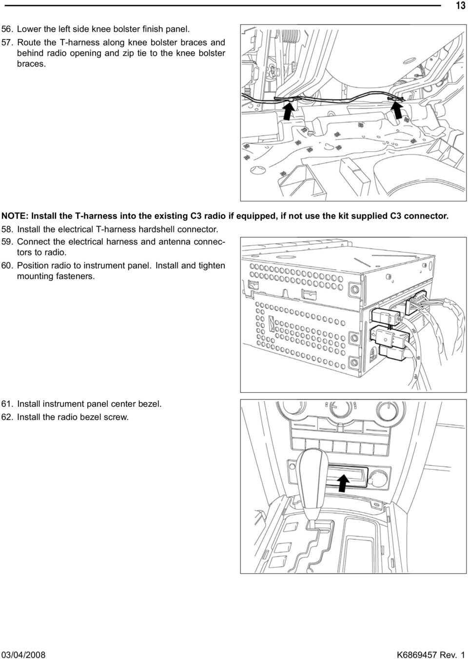 Backup Camera Jeep Commander Grand Cherokee Pdf 57 Vw Wiring Harness Installation Note Install The T Into Existing C3 Radio If Equipped