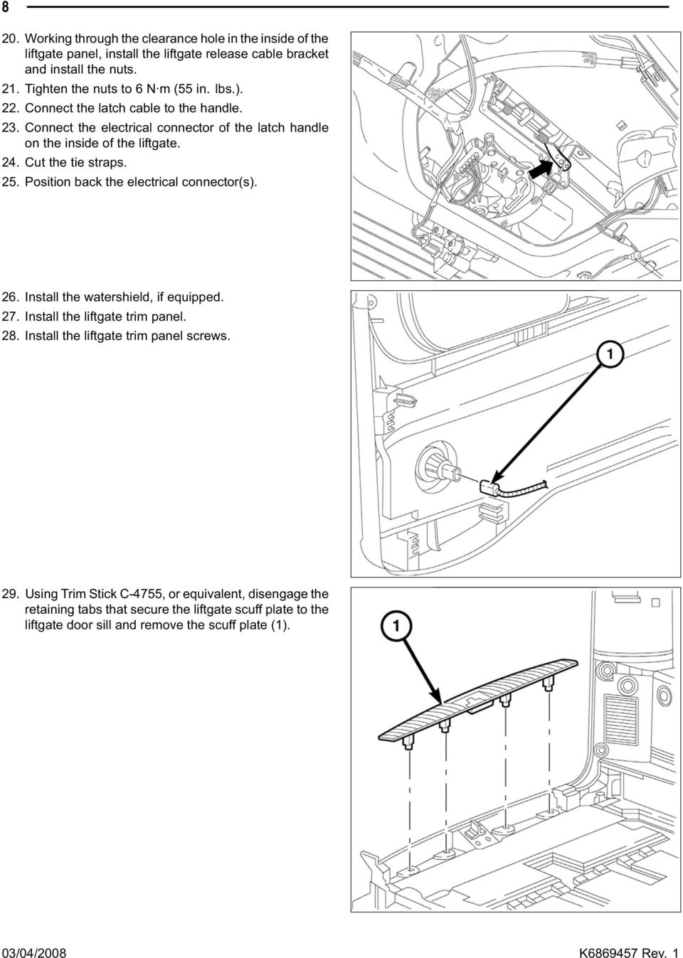 Backup Camera Jeep Commander Grand Cherokee Pdf 2006 Lift Gate Wiring Diagram Connect The Electrical Connector Of Latch Handle On Inside Liftgate 24