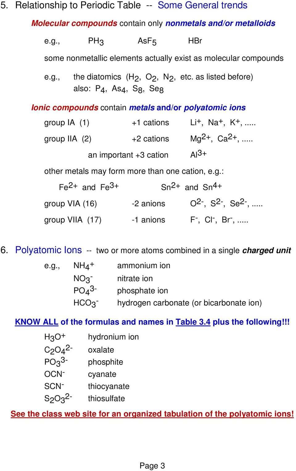 Molecules, Compounds, and Chemical Equations (Chapter 3) - PDF