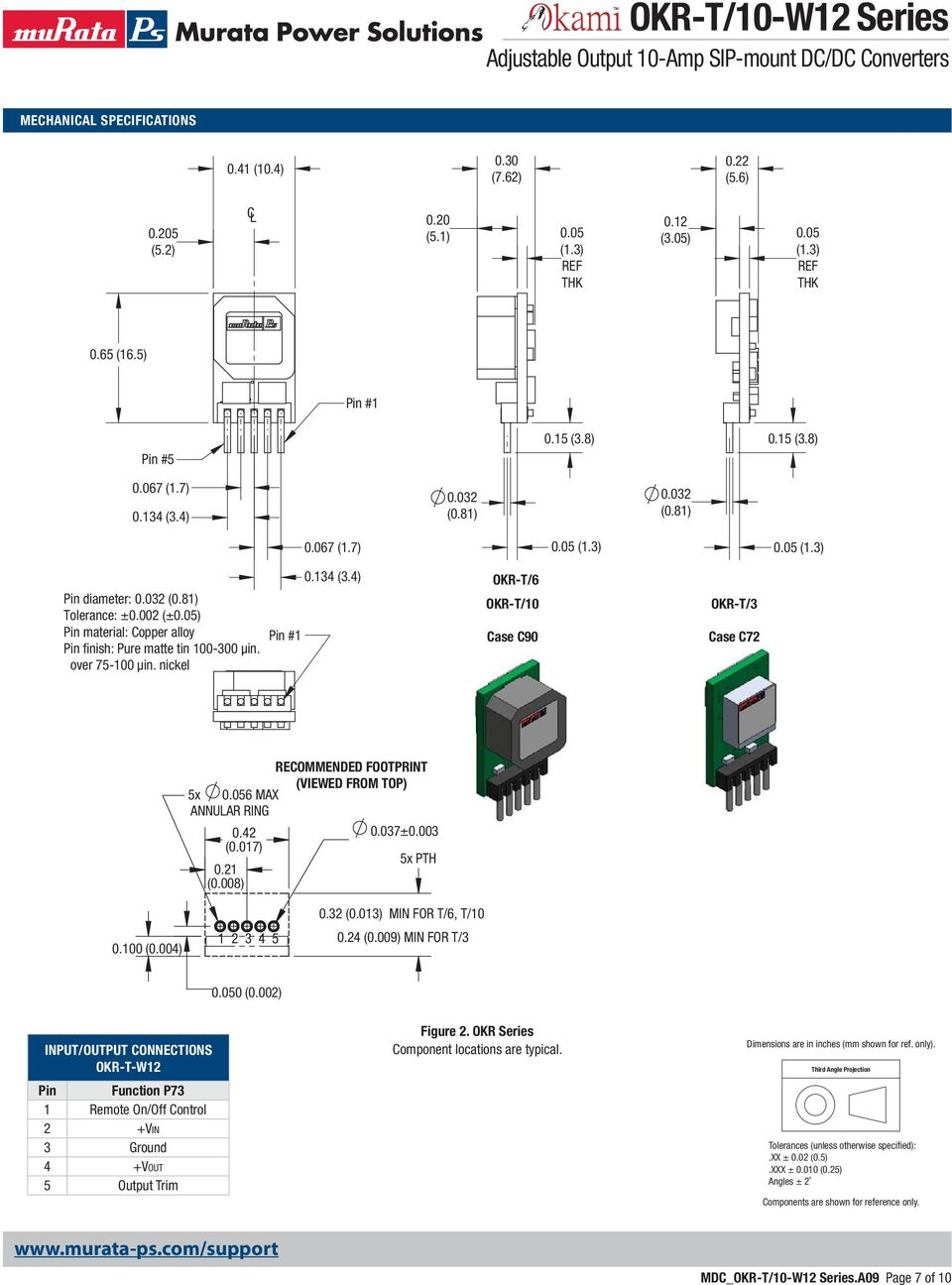 OKR-T/10-W12 Series Adjustable Output 10-Amp SIP-mount DC/DC ... on mod box wiring diagram, e-cig with led wiring diagram, okr t 10 mod diagram, okr t6c w1-2,