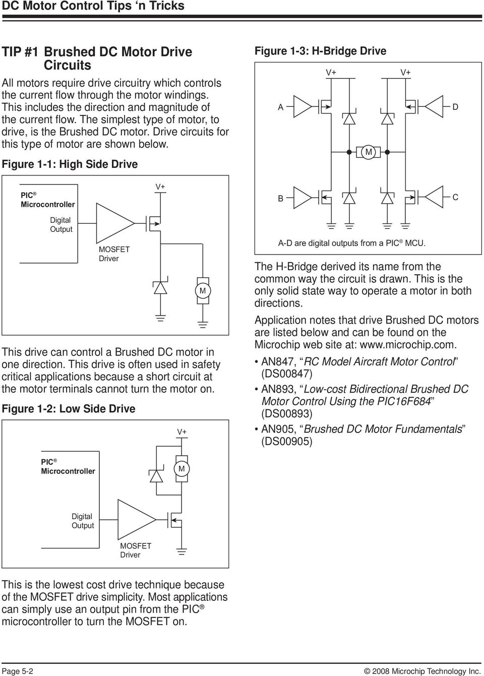 Chapter 5 Dc Motor Control Tips N Tricks Pdf Go Back Gt Gallery For Brushless Electric Diagram Figure 1 High Side Drive 3 H Bridge