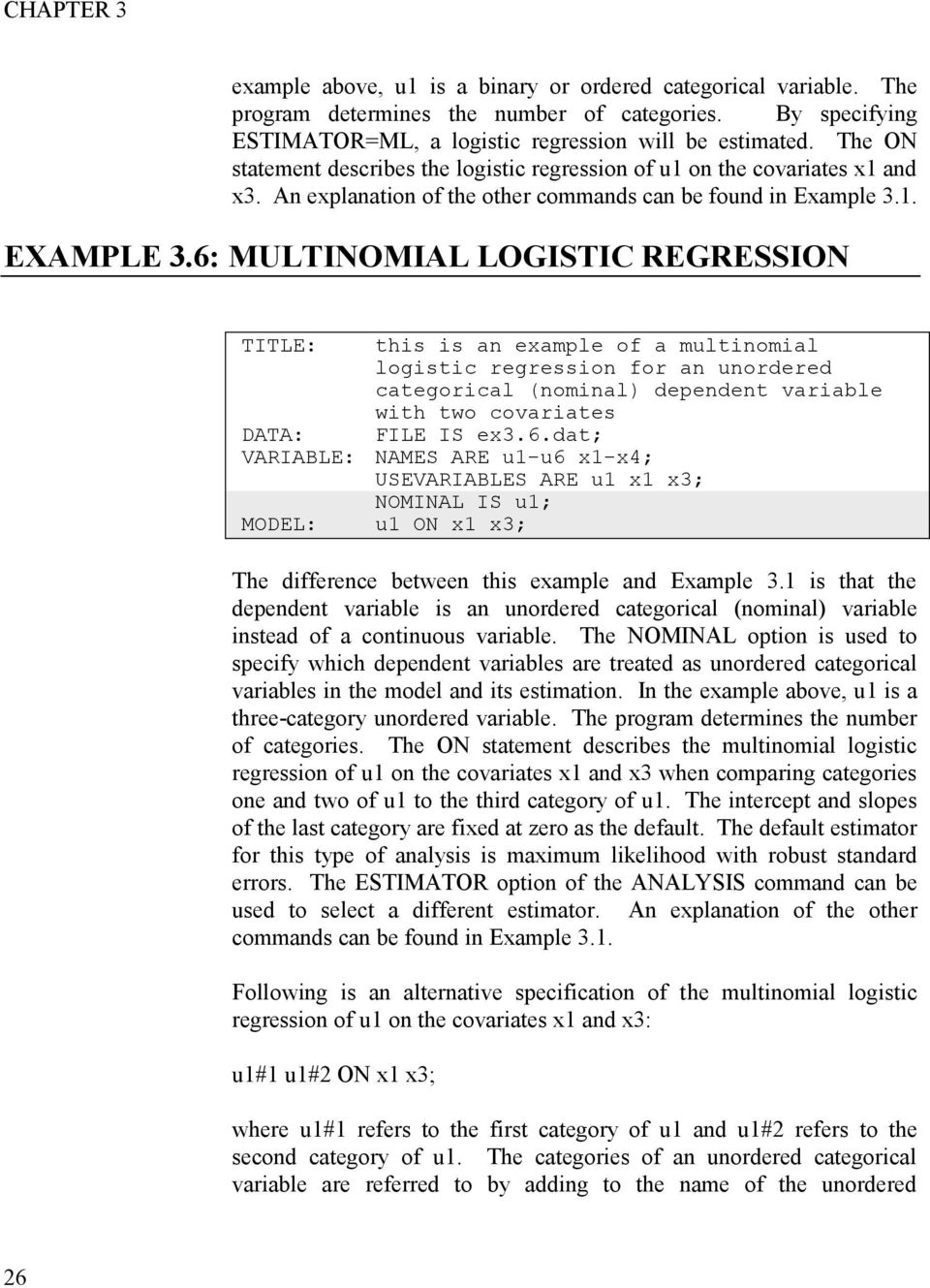 CHAPTER 3 EXAMPLES: REGRESSION AND PATH ANALYSIS - PDF