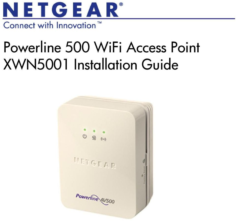 NETGEAR XWN5001 Access Point Drivers for Windows