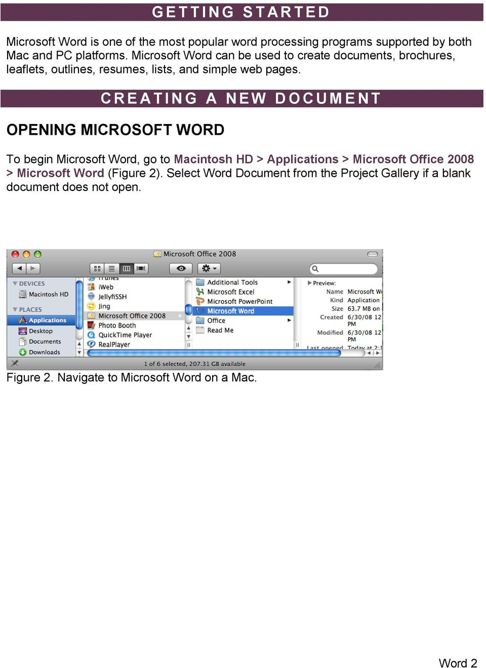 MICROSOFT WORD TUTORIAL - PDF