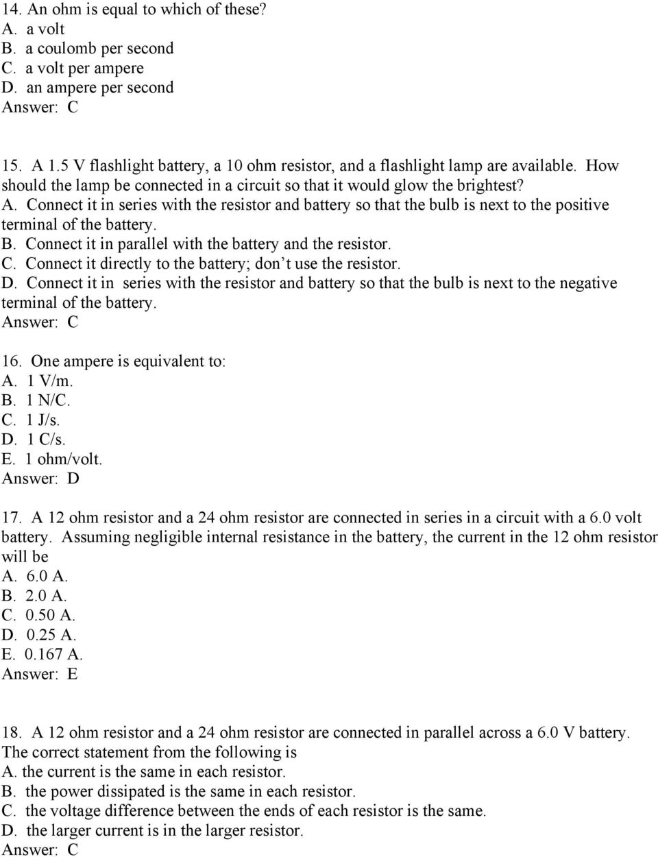 Chapter 13 Electric Circuits Pdf Parallel And Series Circuit With Lightbulbs Battery Connect It In The Resistor So That Bulb Is Next To
