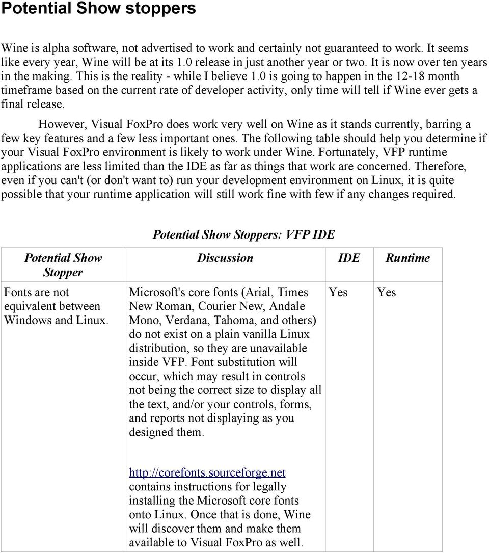 Running Visual FoxPro on Linux Using Wine - PDF