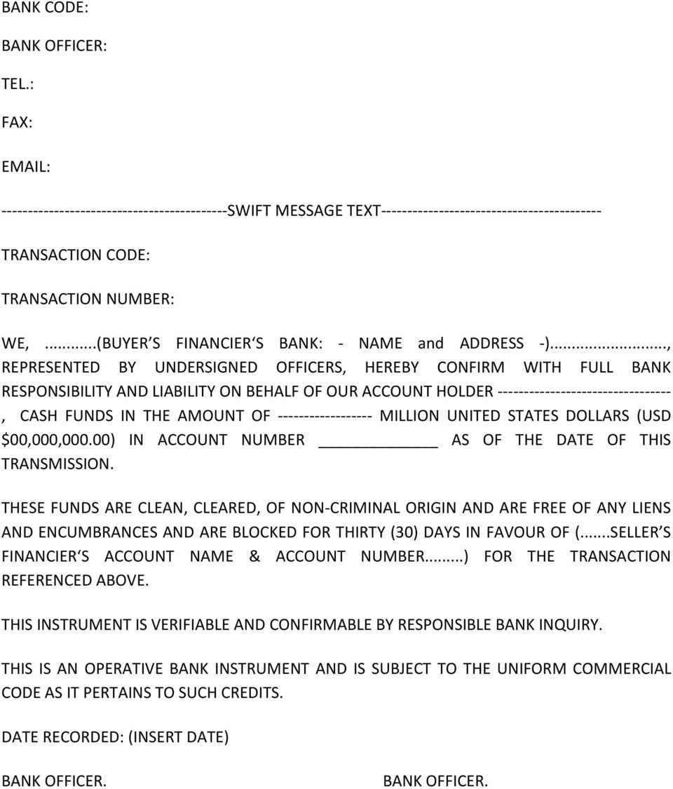 AGREEMENT FOR THE PURCHASE AND SALE OF GOLD DORE BARS