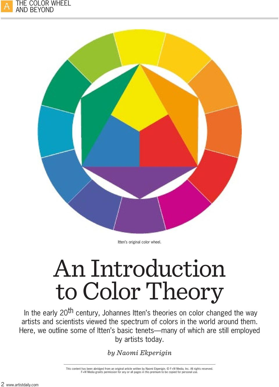 The Color Wheel And Beyond Pdf