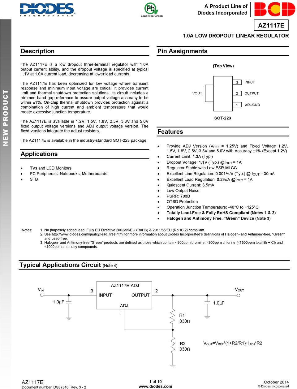 10a Low Dropout Linear Regulator Pdf Drop Out Ldo Voltage Using Discrete Semiconductors It Provides Current Limit And Thermal Shutdown Protection Solutions Its Circuit Includes A Trimmed Band