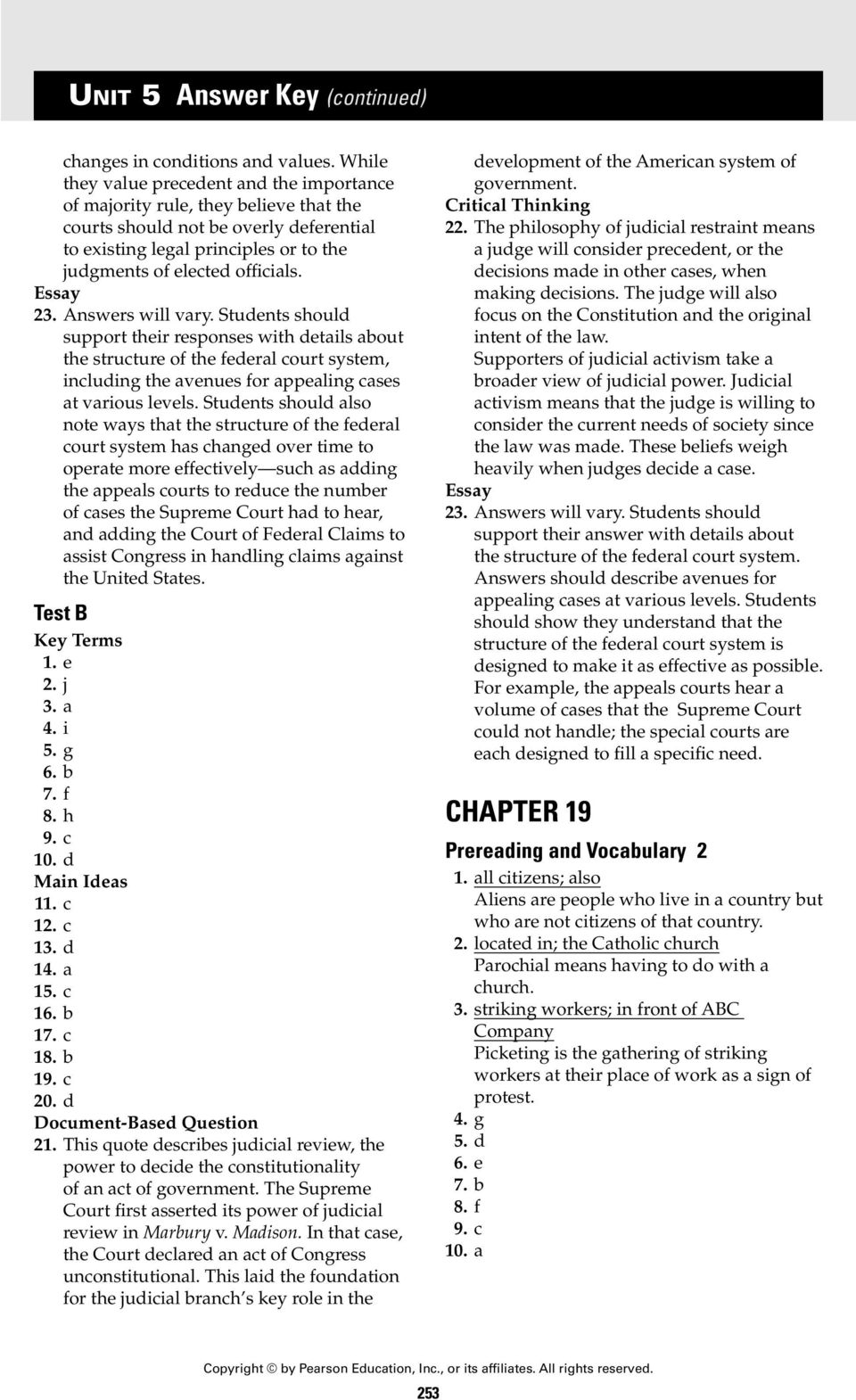 UNIT 5 Answer Key CHAPTER 18  CHAPTER 18 Section 1 - PDF