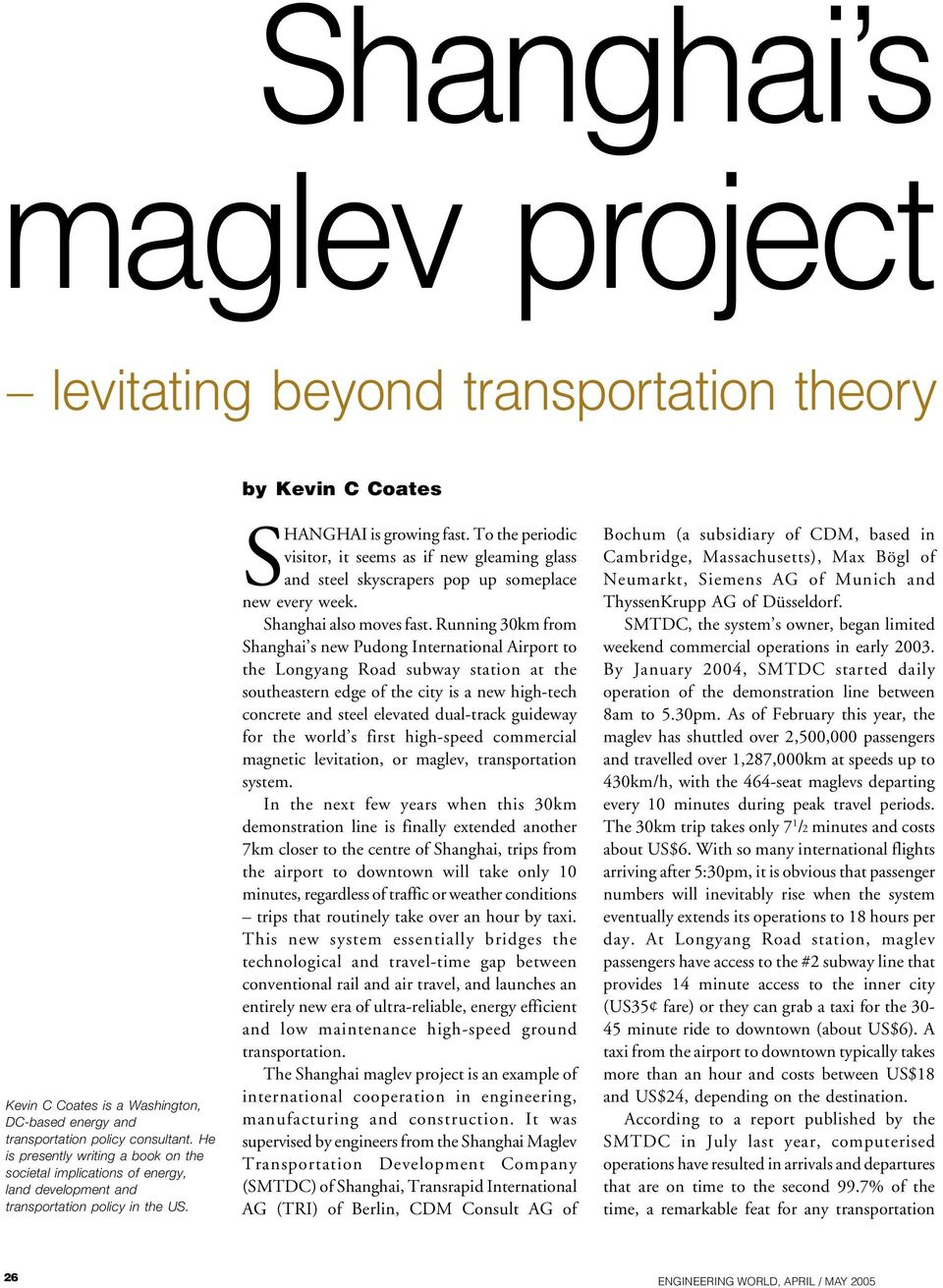 Shanghai s maglev project - PDF