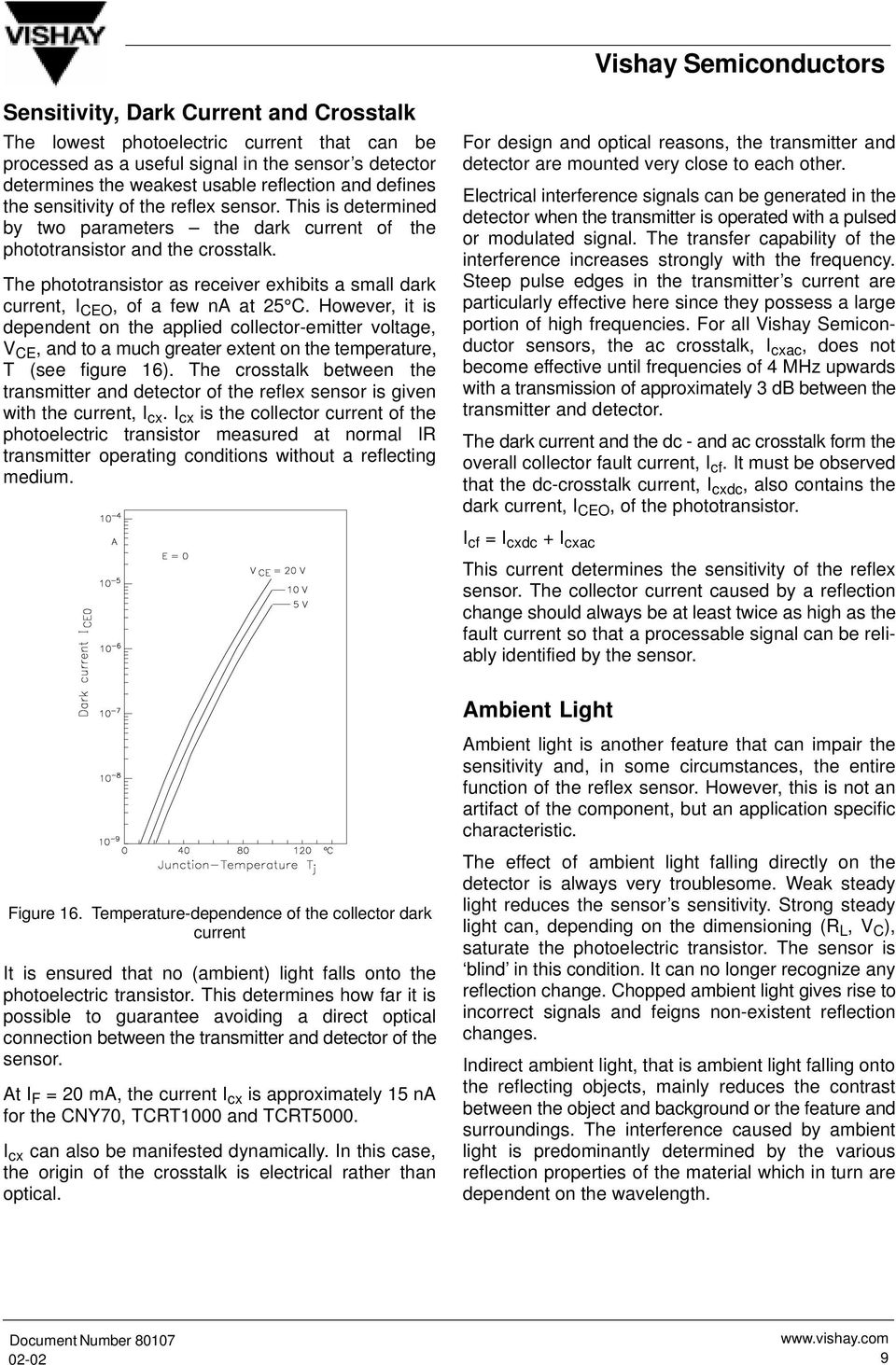Application Of Optical Reflex Sensors Pdf Low Power Interrupter Modulated Light Received The Phototransistor As Receiver Exhibits A Small Dark Current I Ceo Few