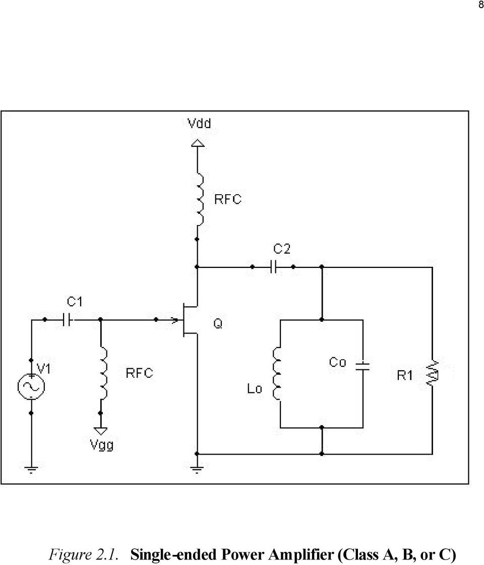 Chapter 2 Power Amplifier Pdf Figure 2a Singleended With A Dc Blocking Capacitor 6 9 B 22 Complementary Ush Pull Ower Class Or C Btransformer Coupled