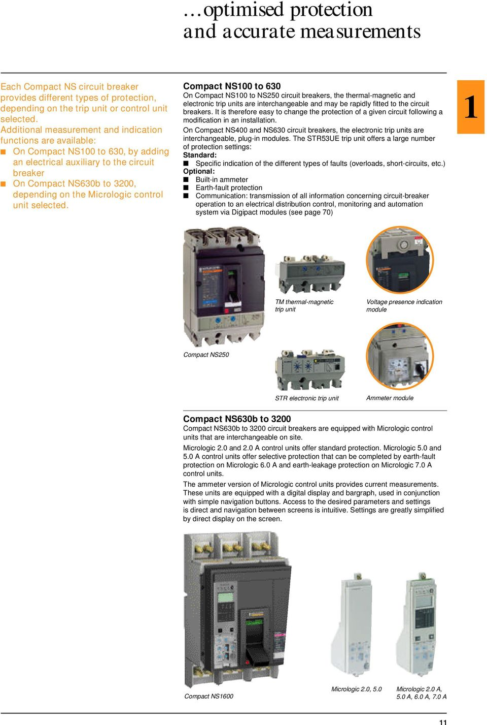 Catalogue Merlin Gerin Compact Lv Circuit Breakers And Switch Protection Of A Generator Set The Downstream Circuits Micrologic Control Unit Selected