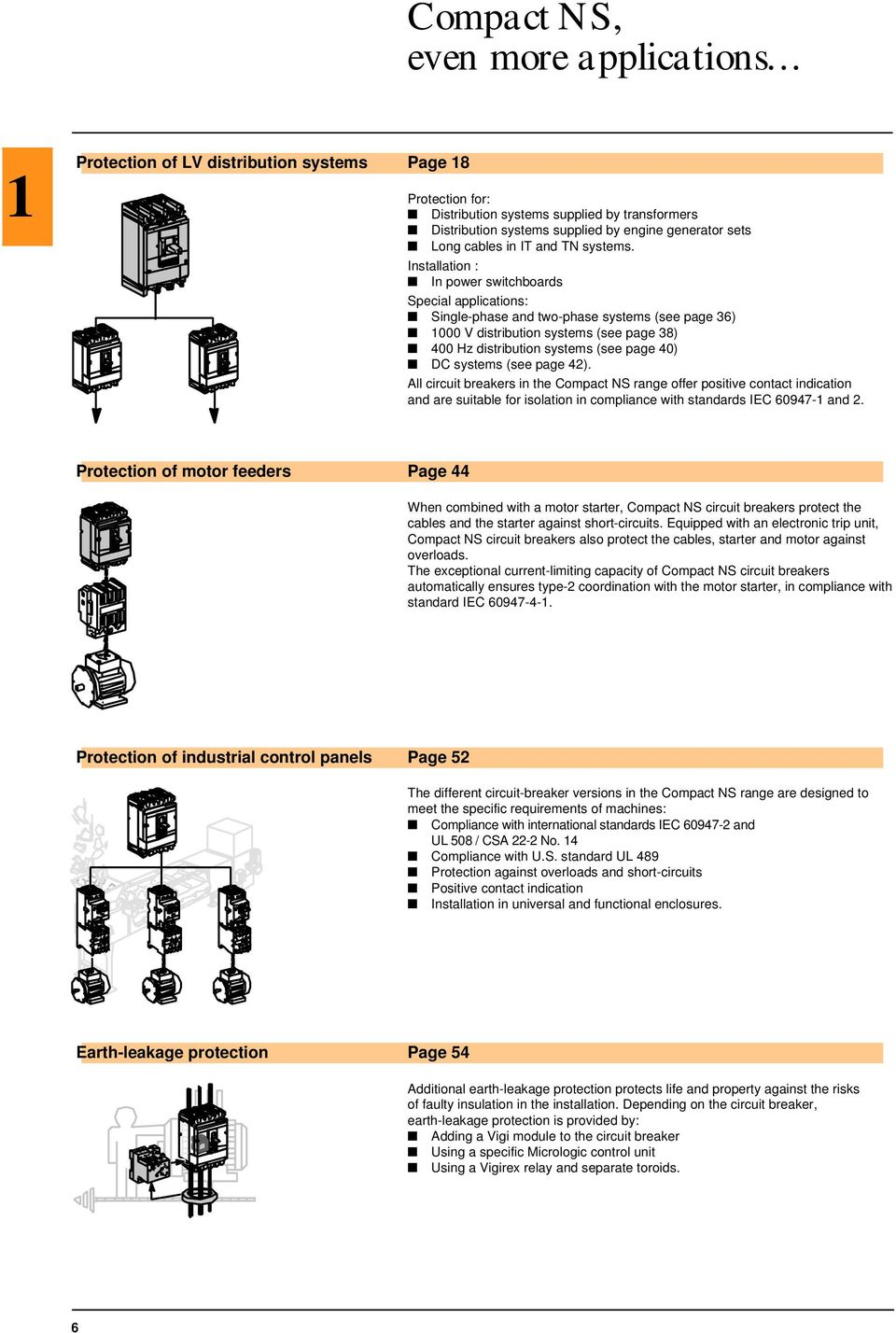 Catalogue Merlin Gerin Compact Lv Circuit Breakers And Switch Breaker Logic In Power Plant Installation Switchboards Special Applications Single Phase Two Systems