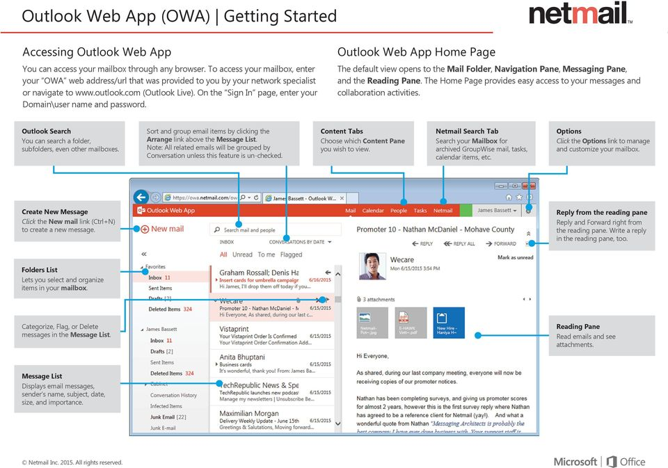 Outlook Web App (OWA) Getting Started - PDF