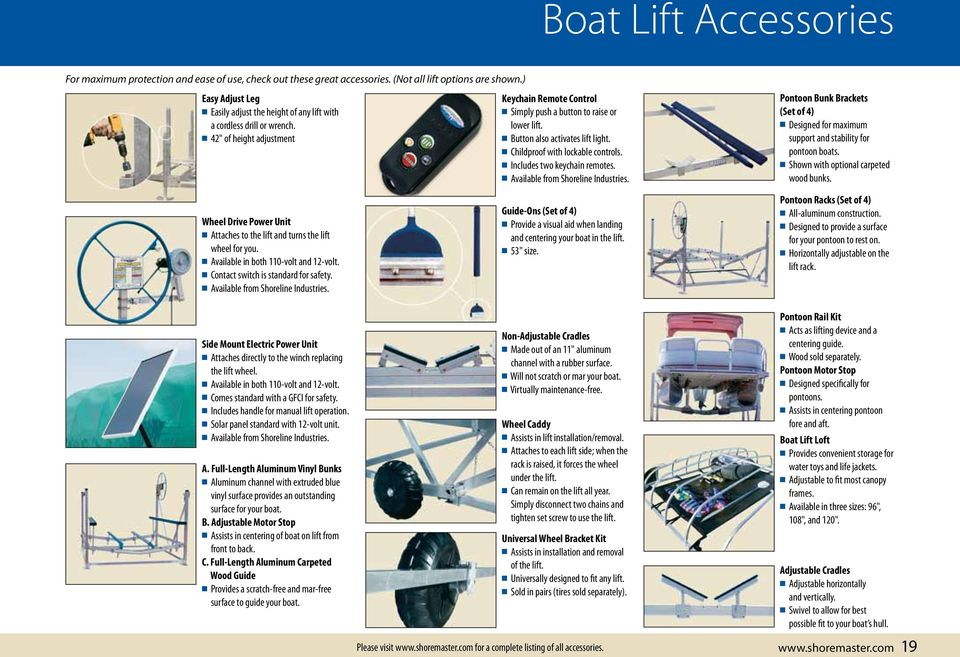 BOAT LIFTS  Live the Waterfront - PDF