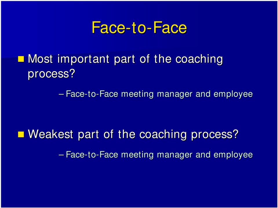 Face-to to-face meeting manager and employee
