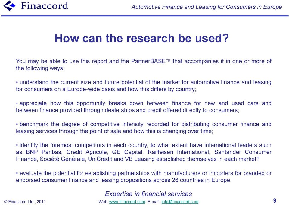 Automotive Finance and Leasing for Consumers in Europe - PDF