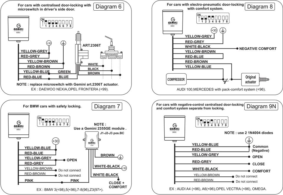 compressor diagram 8 negative comfort original actuator audi 100,mercedes  with pack-comfort system