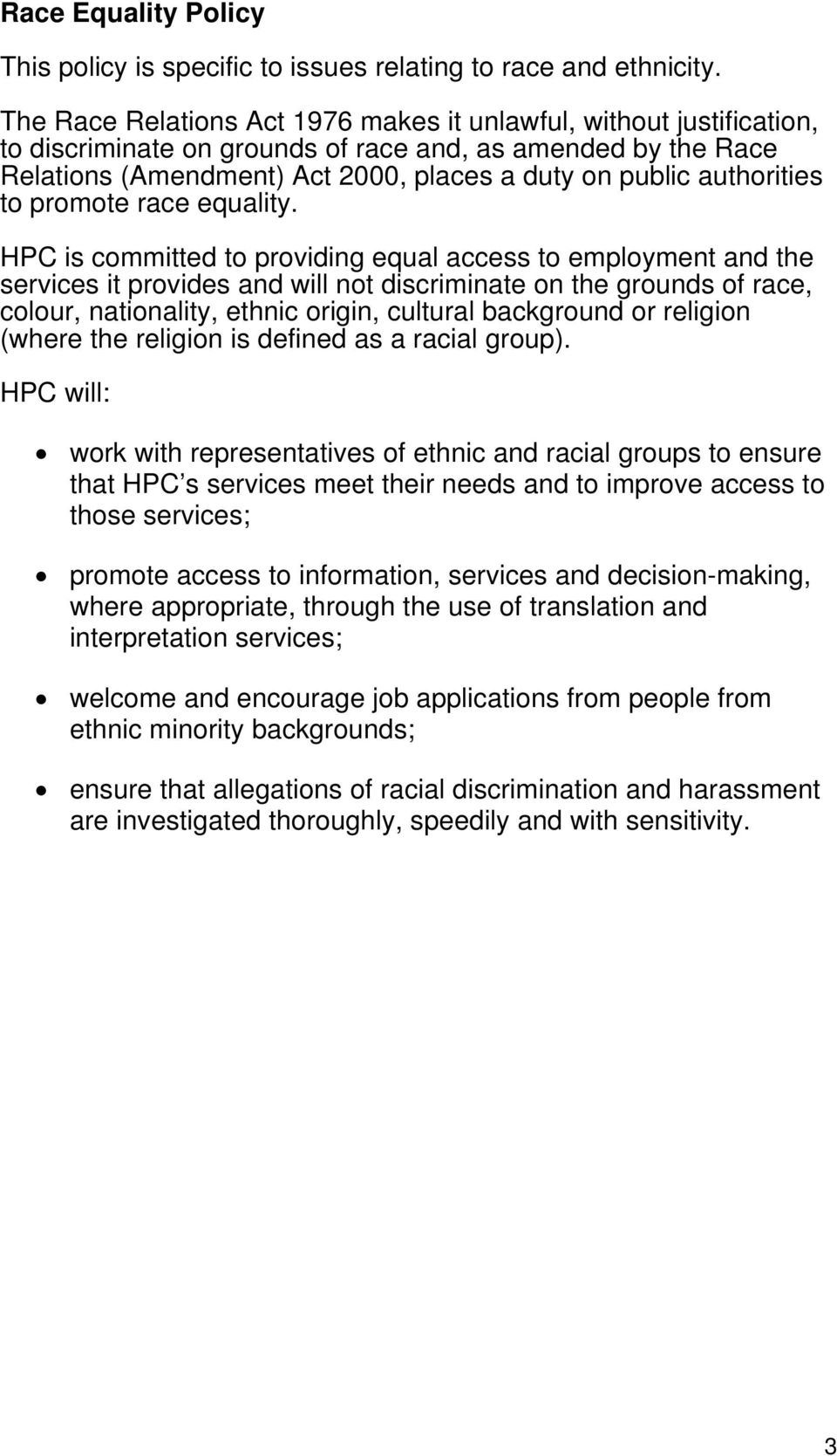 authorities to promote race equality.