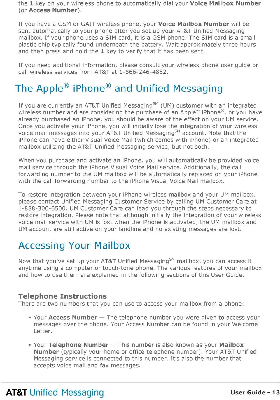at t unified messaging sm user guide pdf rh docplayer net AT&T iPhone Voicemail Password AT&T Voicemail Problems