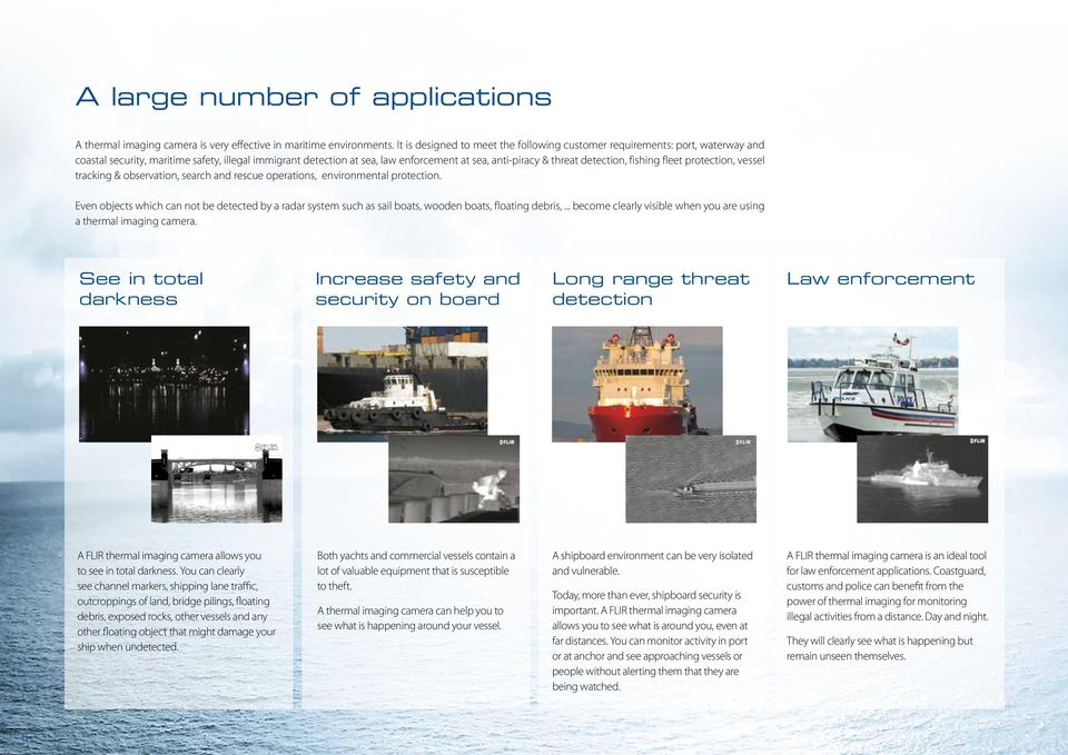 Thermal imaging cameras for maritime applications  MD-Series