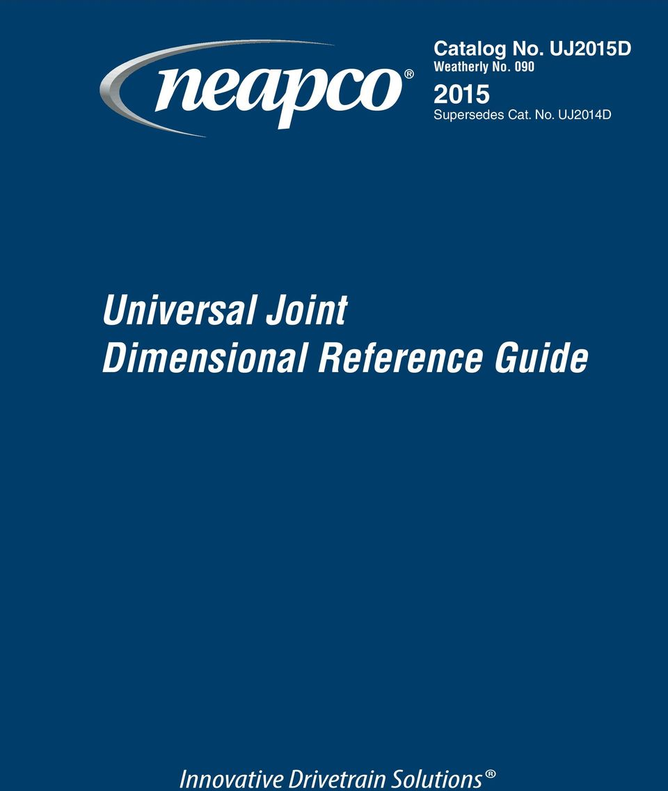 Universal Joint Dimensional Reference Guide - PDF