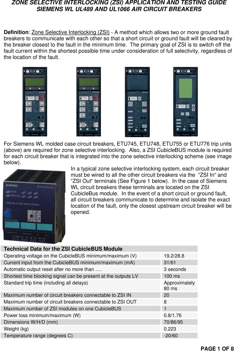 Zone Selective Interlocking Zsi Application And Testing Guide Above Short Circuit To Ground The Primary Goal Of Is Switch Off Fault Current Within Shortest Possible