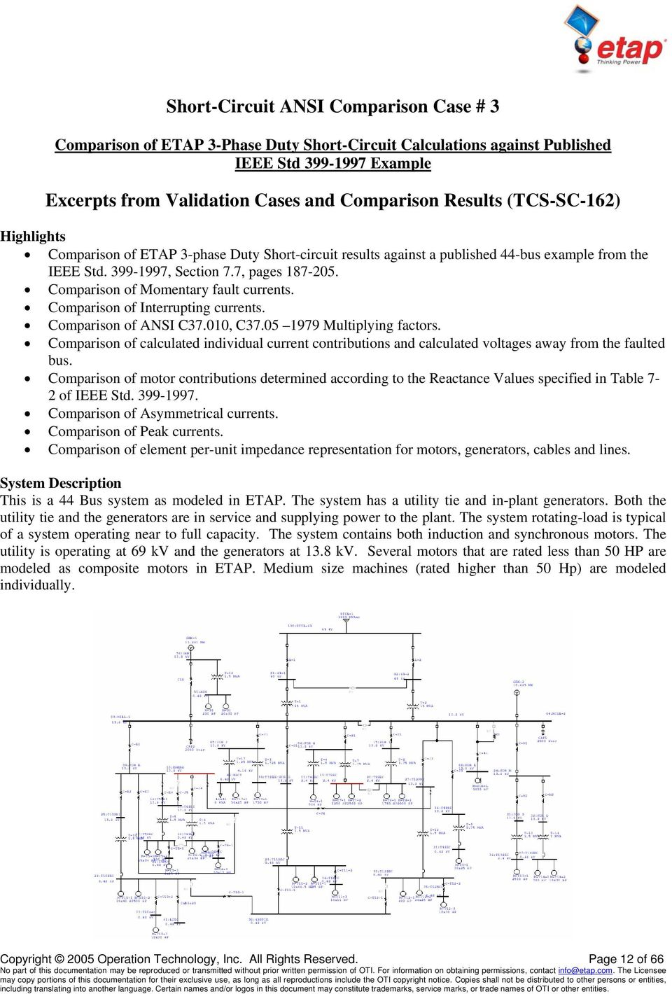 ETAP Validation Cases and Comparison Results - PDF