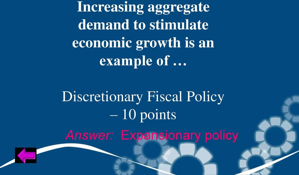 example of Discretionary Fiscal
