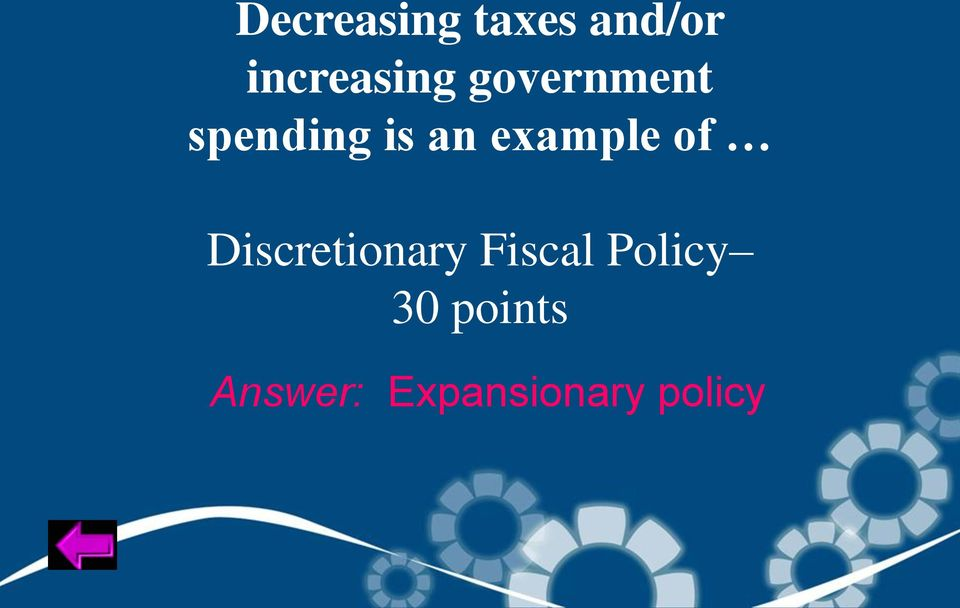 of Discretionary Fiscal Policy 30
