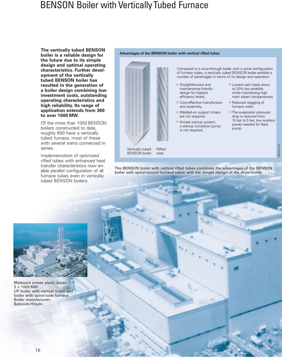 BENSON Boilers for Maximum Cost-Effectiveness in Power Plants - PDF