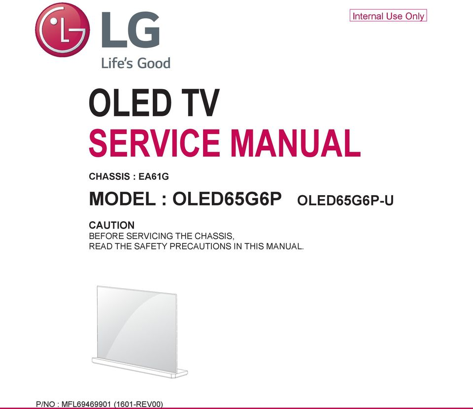 Oled Tv Service Manual Pdf General Plasma Before Servicing The Chassis Read Safety