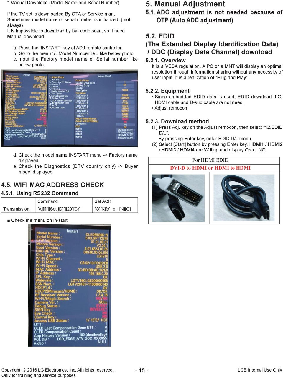 Oled Tv Service Manual Pdf General Plasma Adjustment Adc Is Not Needed Because Of Otp Auto