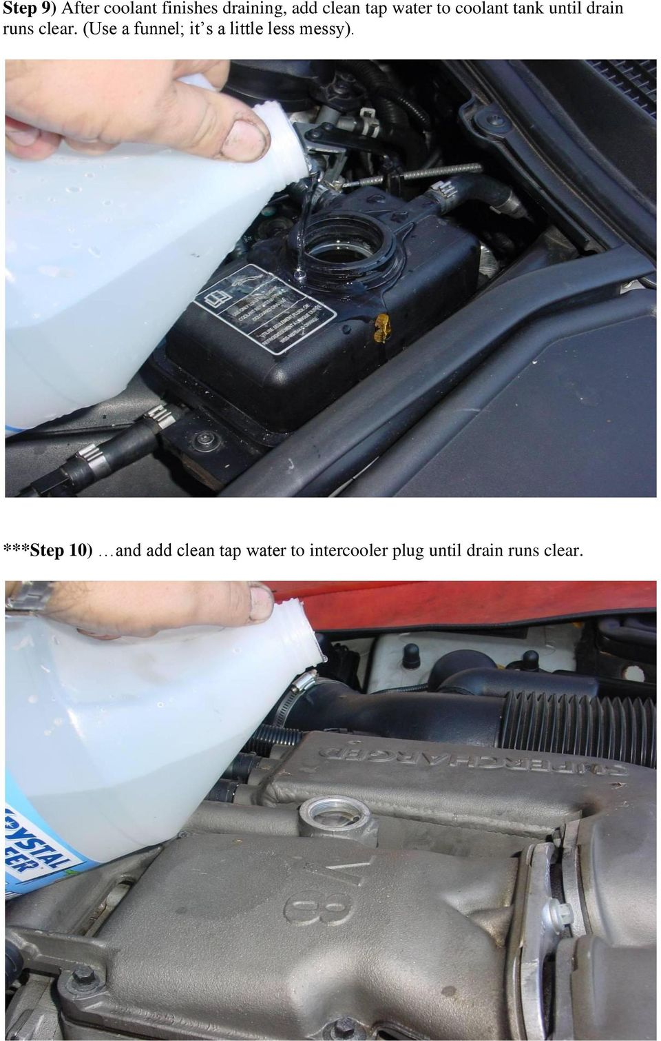 Xk Coolant Flush And Fill Thermostat Replacement Pdf Vw Engine Bottle Use A Funnel It S Little Less Messy