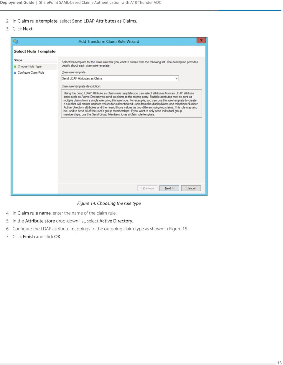 SharePoint SAML-based Claims Authentication with A10 Thunder