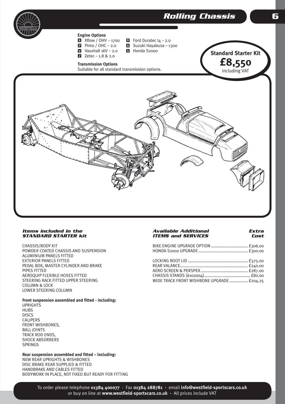 Westfield Car Sales Ltd Pdf Ford Engine Start Stand Wiring D H S Standard Starter Kit 8550 Including Vat Items Included In The Available Additional