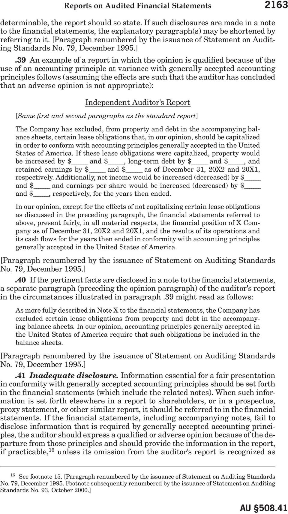 [Paragraph renumbered by the issuance of Statement on Auditing Standards No. 79, December 1995.].
