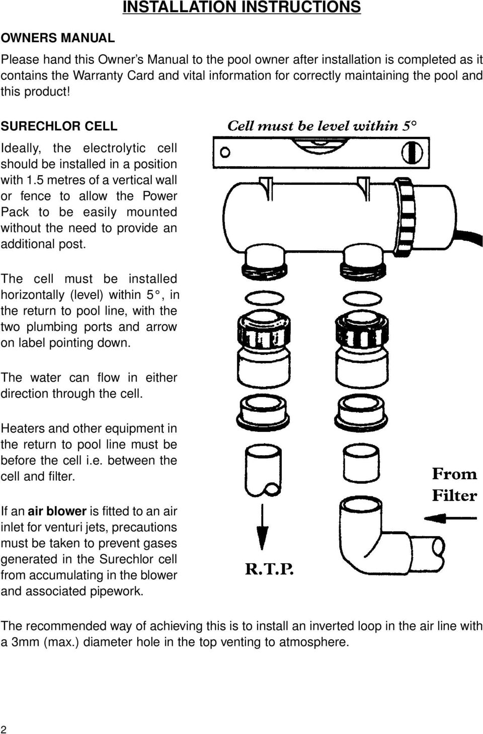 Page on Pool Return Line Diagram