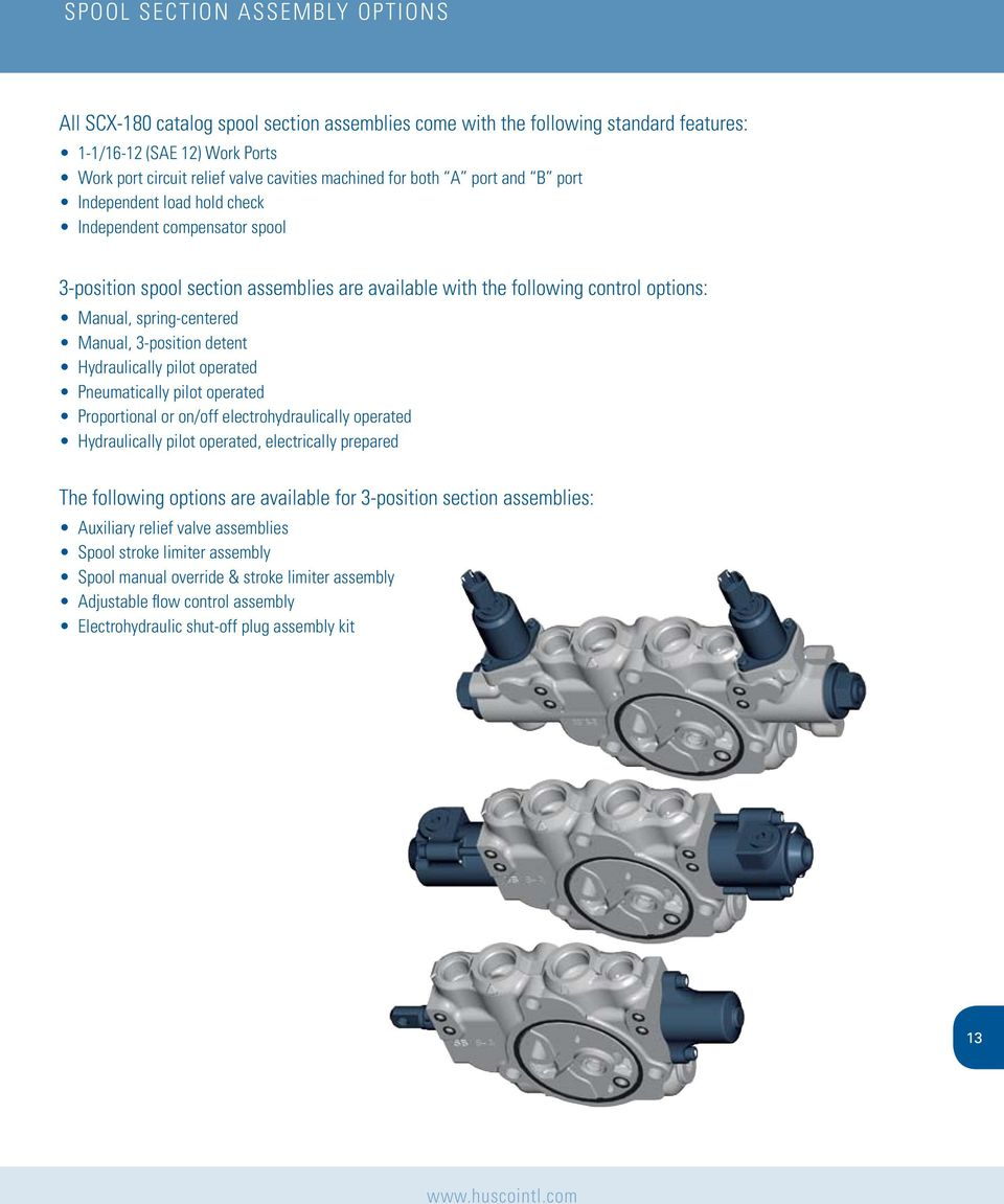 Scx 180 Control Focused Technology Driven Valve Series Ssl 1000 Pilotoperated Relief Valves Hydraulic Circuits 3 Position Detent Hydraulically Pilot Operated Pneumatically Proportional Or On Off Electrohydraulically