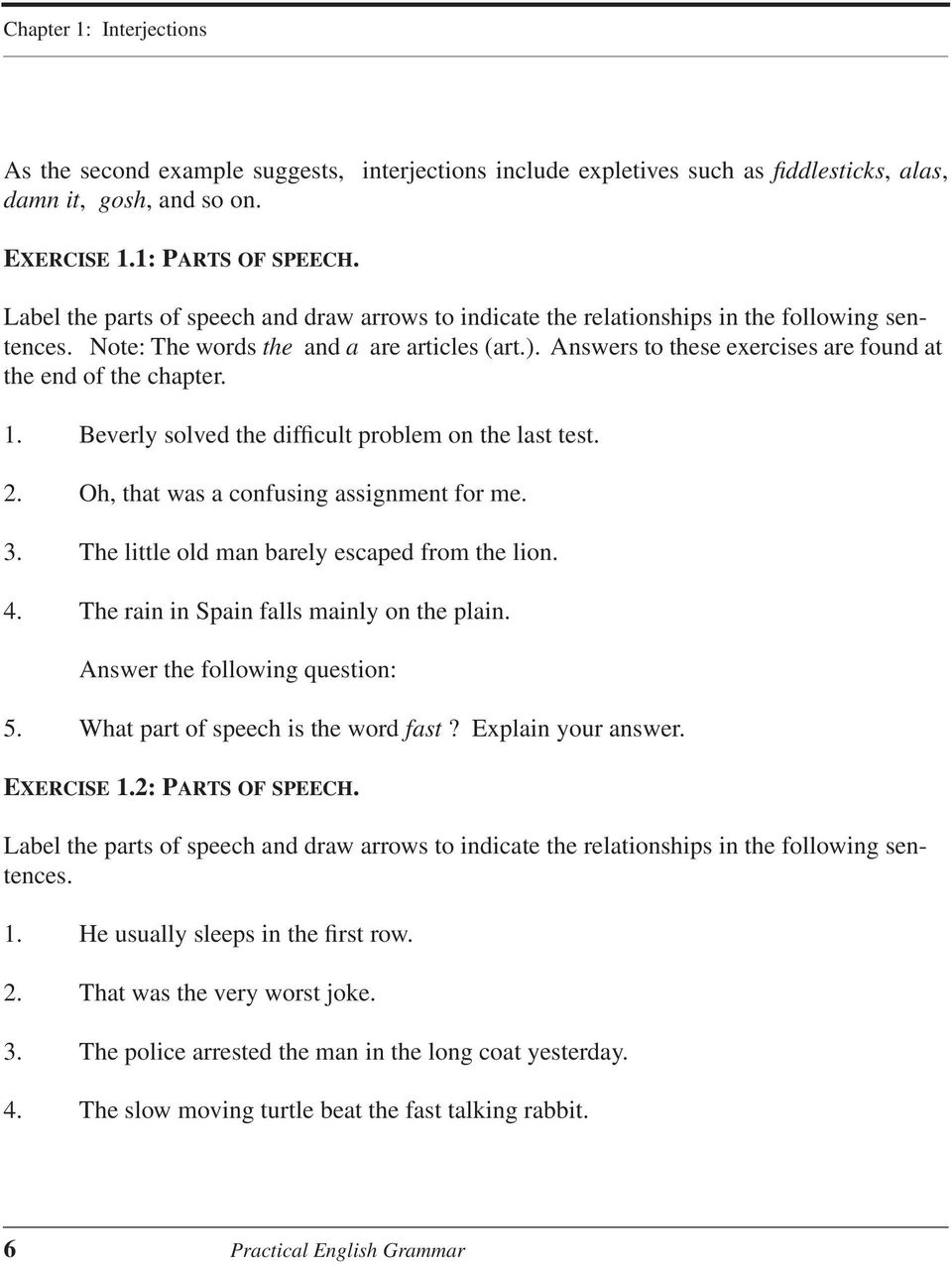 The parts of speech: the basic labels - PDF