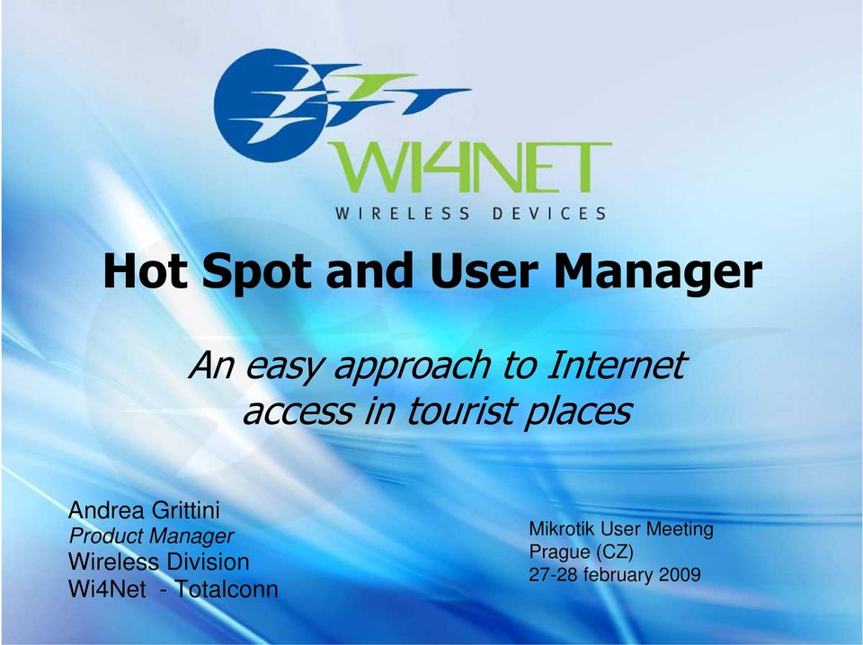 Hot Spot and User Manager - PDF