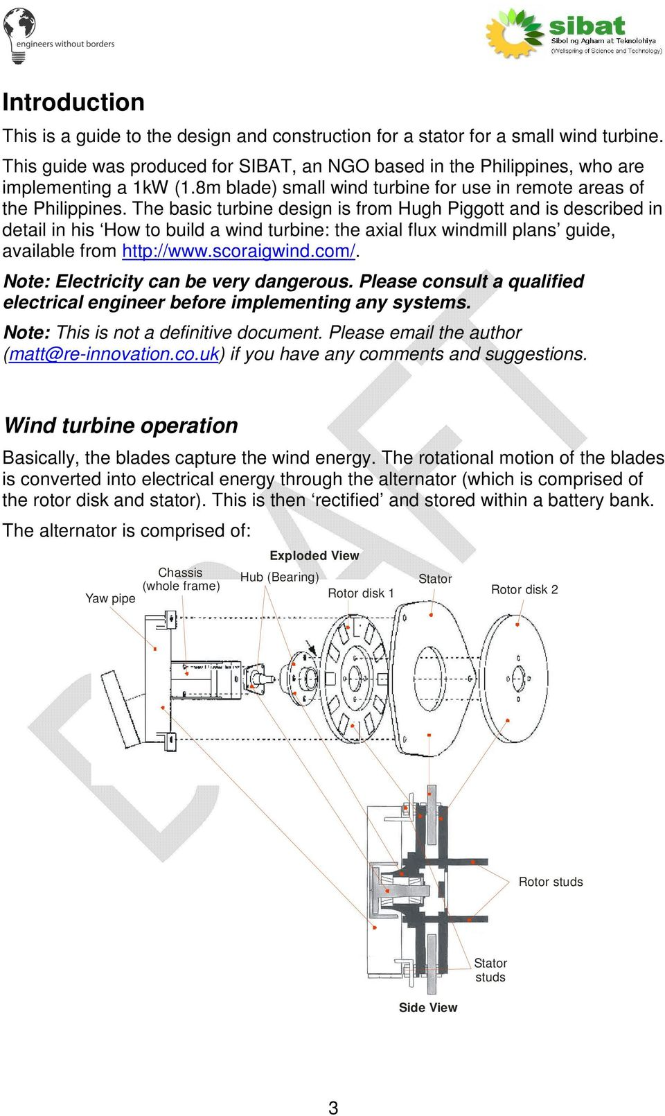 Wind Turbine Stator Design Guide Pdf Diy Wiring Diagrams The Basic Is From Hugh Piggott And Described In Detail His How
