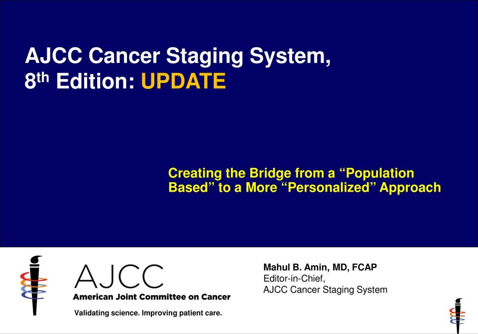 Ajcc Cancer Staging System 8 Th Edition Update Pdf Free Download