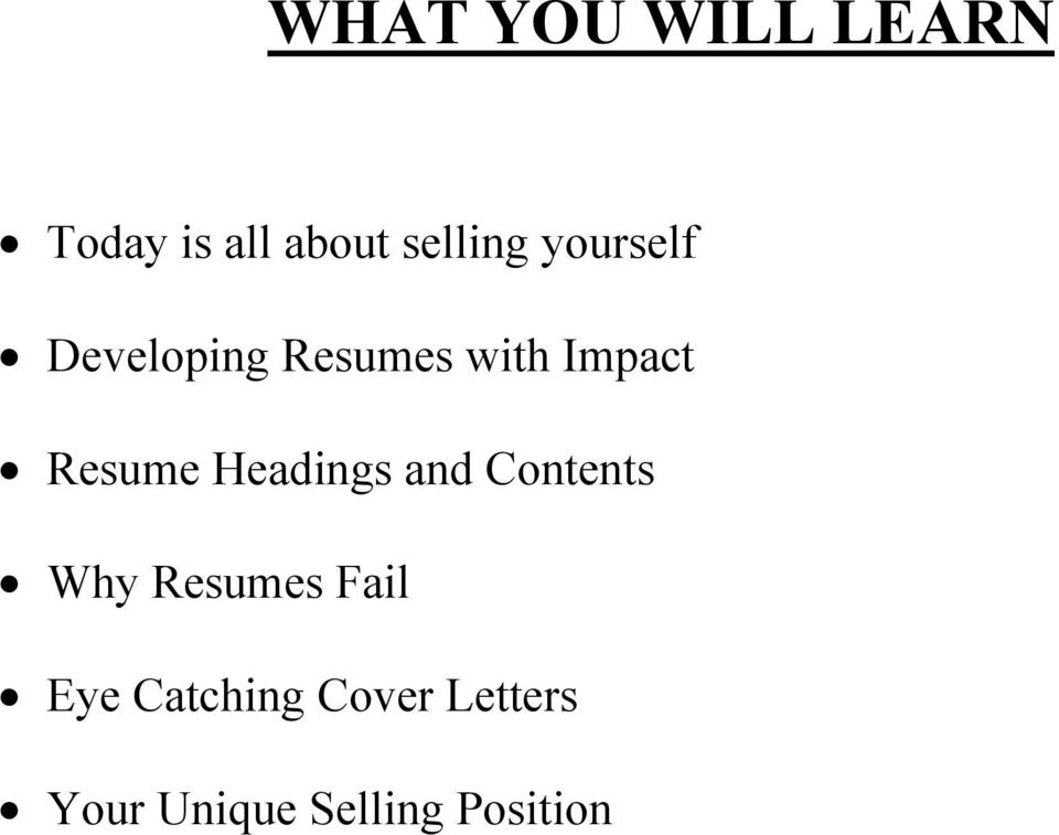 Headings And Contents Why Resumes Fail Eye