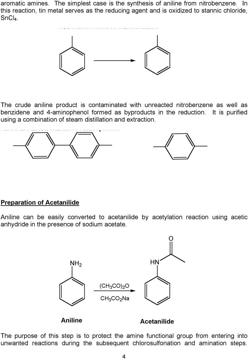 acetylation of aniline with acetic anhydride